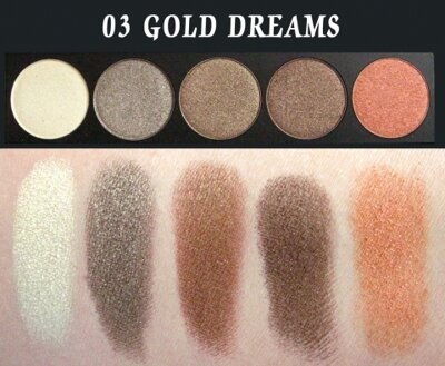 E style Palette Eyeshadows 03 Gold Dreams